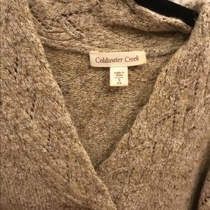 Cold water creek beige sweater